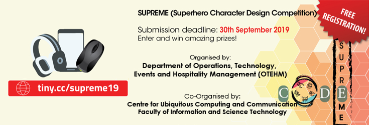 SUPerhero chaRacter dEsign coMpEtition (SUPREME 2019)