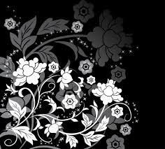 Black-and-White-Flower-WallPaper-Designs